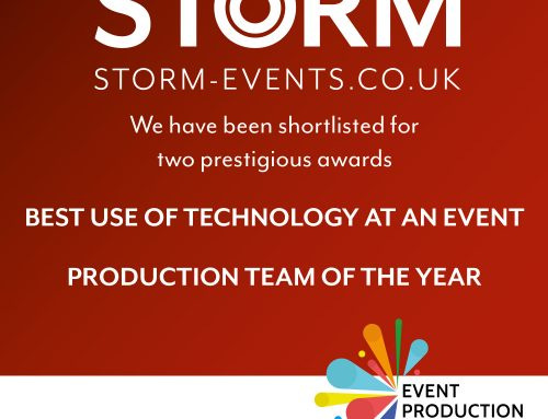 Storm shortlisted for two awards at this years Event Production Awards!